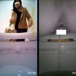 大学の洋式トイレを便器内から盗撮②