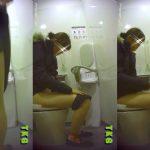 プレミアピープセレクション TKG@トイレ 【3回も入室?!】若いこの個室観察